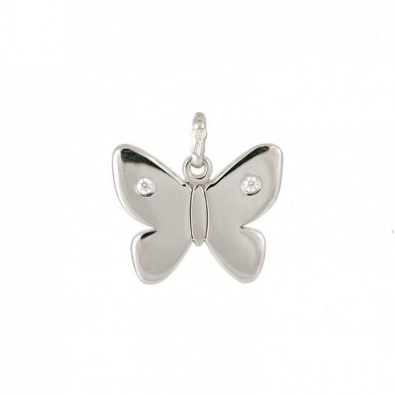 73b55b719936 Colgante de plata mariposa con circonitas (248400172)