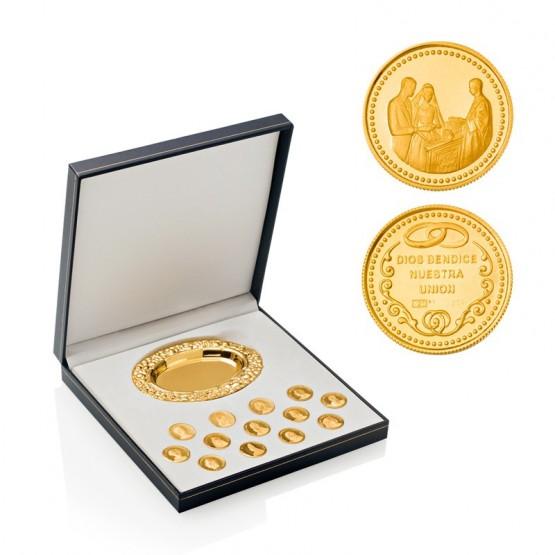 Arras de boda Bíblicas de plata chapada en oro (AG)8161CH