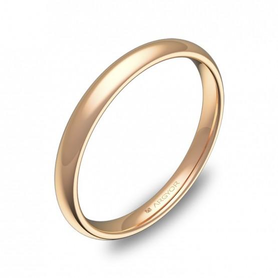 Alianza media caña gruesa 2,5mm oro rosa pulido A0125P00R