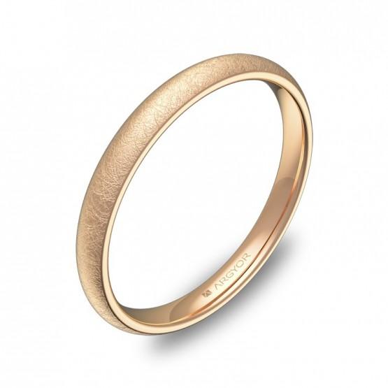 Alianza media caña 2,5mm oro rosa hielo A0125H00R