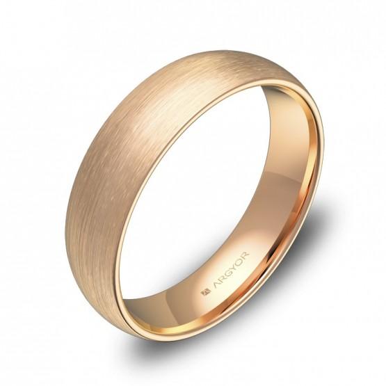 Alianza de boda de 5,0mm en oro rosa satinado A0150S00R