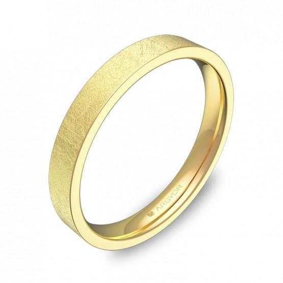 Alianza de boda plana gruesa 3,0mm en oro amarillo hielo B0130H00A