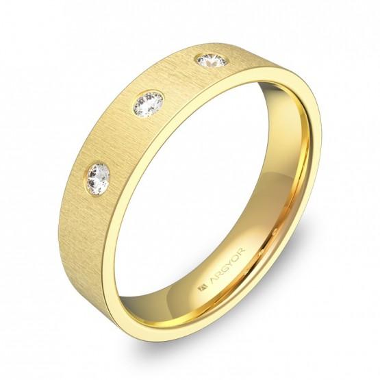 Alianza de boda 4,5mm oro amarillo con diamantes B0145T3BA