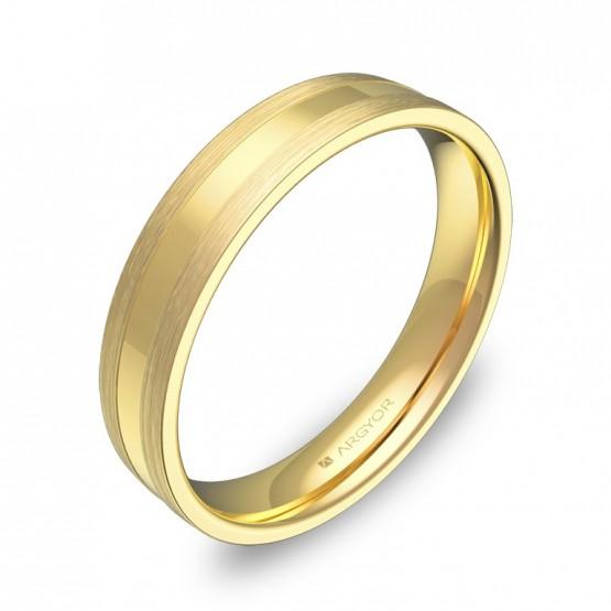 Alianza de boda en oro amarillo combinado C1540C00A