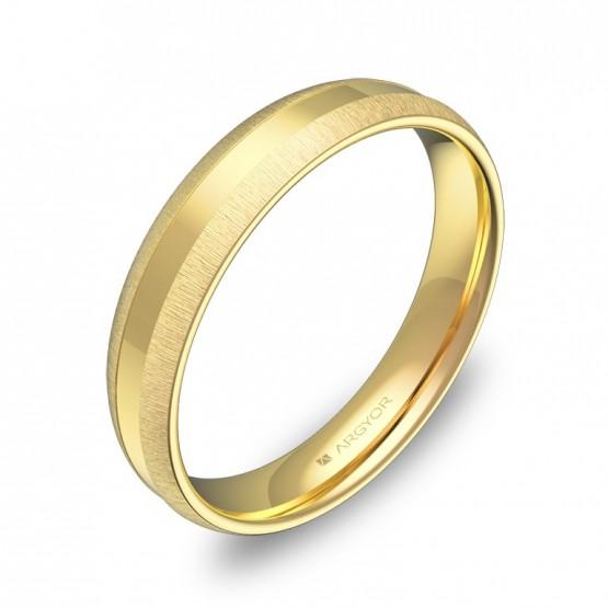 Alianza de boda con ranuras 4mm en oro amarillo C2240C00A