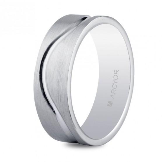 Alianza de plata facetada mate-brillo 6.5mm (5765054N)