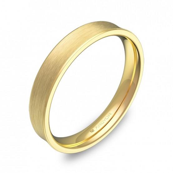 Alianza de boda cóncava 3,5mm en oro amarillo satinado C3035S00A