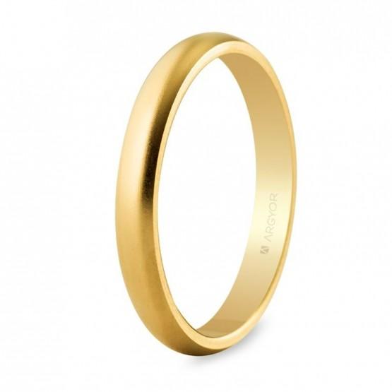 Alianza de boda oro amarillo 3mm efecto arena (50306M)