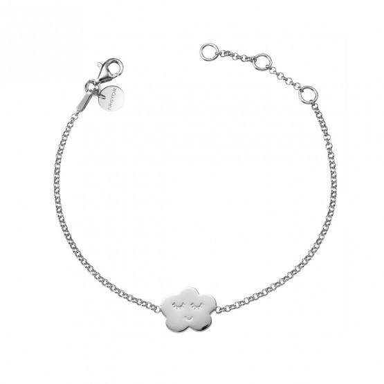 Pulsera de plata de ley 925 Nube sonriente (4B8307316)