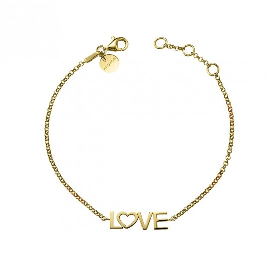 Pulsera de plata de ley 925 dorada LOVE (4A8307305)