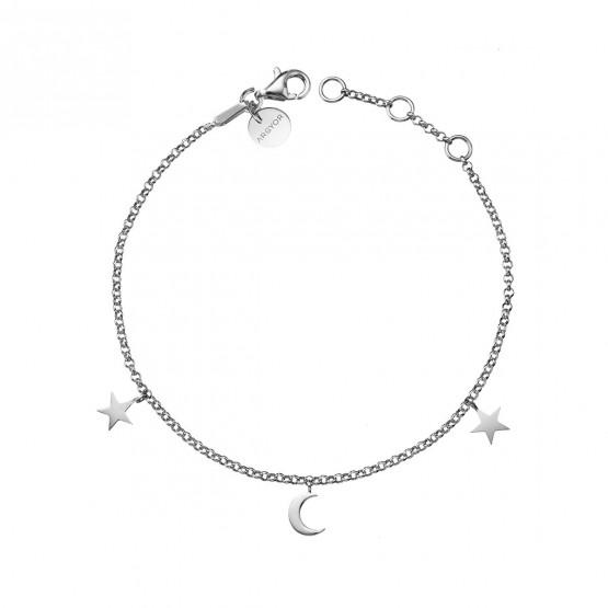 Pulsera de plata ley 925 Luna y Estrellas (4B8307300)
