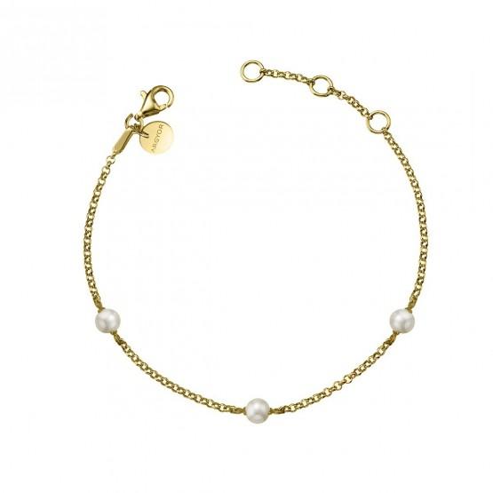 Pulsera de plata dorada con Perlas (4A8307303A)