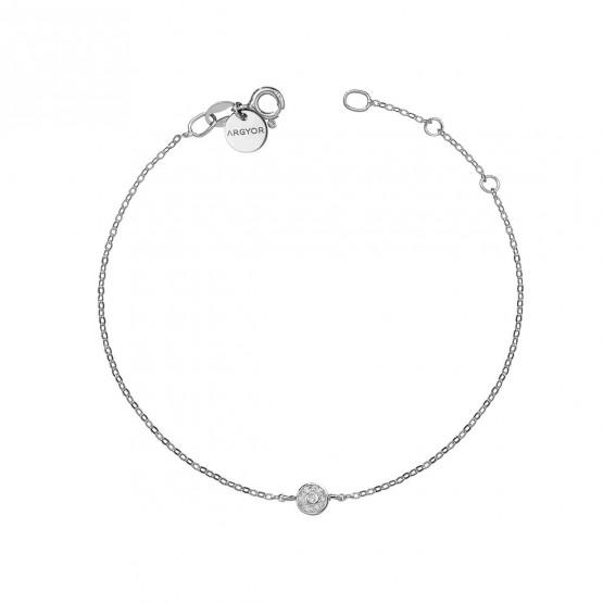 Pulsera oro blanco con Roseta de diamantes (76BPU003)