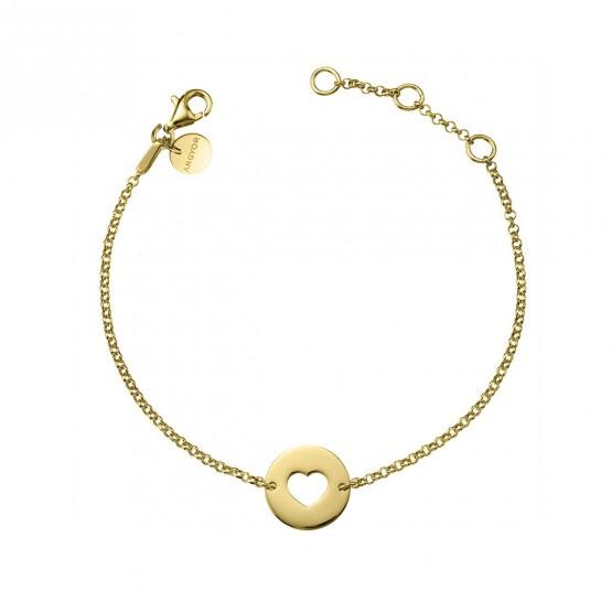Pulsera de plata ley 925 dorada corazón (4A8307308)