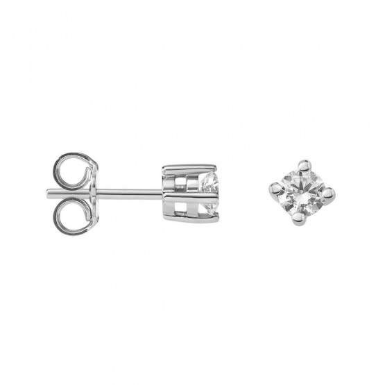 Pendientes de Novia de platino con diamantes (75B0101)