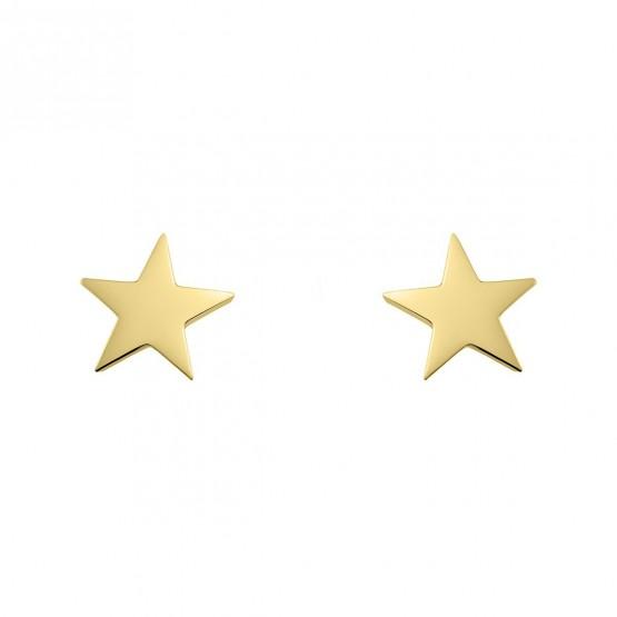 Pendientes de plata dorada con forma de estrella (6A8307300A)