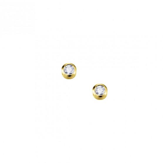 Pendientes de oro con circonitas en chatón (75A0001Z)