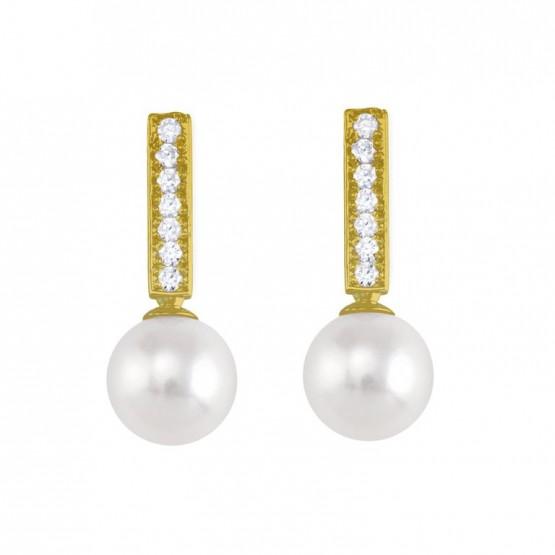 Pendientes de con perlas y circonitas (75A0008Z)