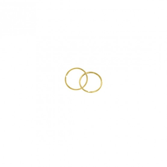 Aros de oro amarillo 10mm (06A0110)