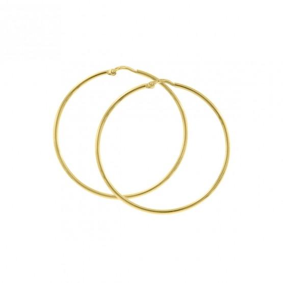 Aros de oro amarillo estilo criolla 40mm (06A0240)