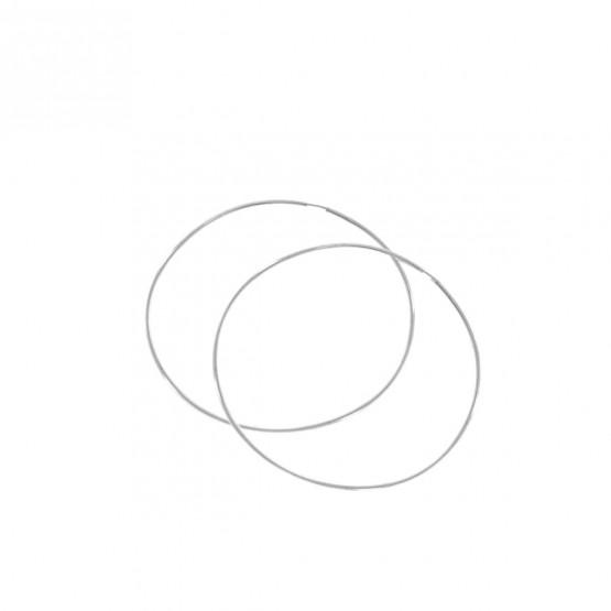 Pendientes de aro blancos 50mm (06B0150)