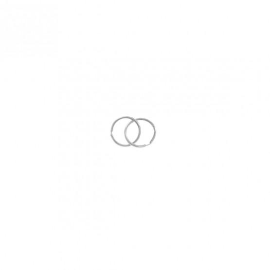 Pendientes de Aro en oro blanco 8mm (06B0108)