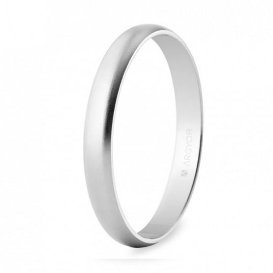 Alianza de boda oro blanco efecto arena 3mm (5B305M)