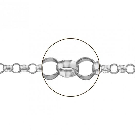 Cadena oro blanco rolo media caña (033293065)