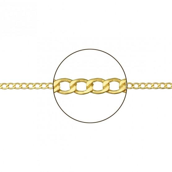 826eab9372ad Cadena barbada de oro amarillo 18k forma hueca 094110050
