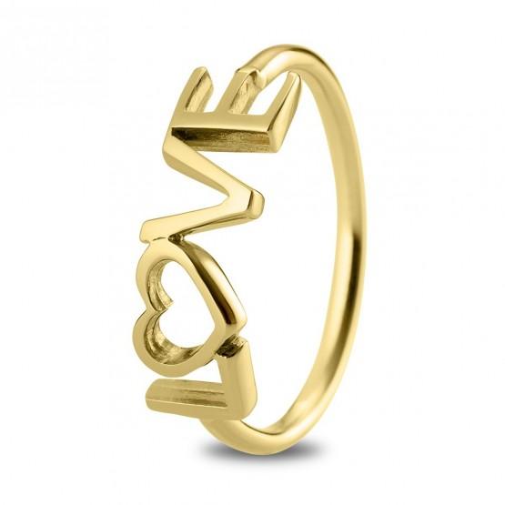 Anillo de plata ley 925 dorada LOVE (7A8307305)
