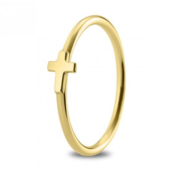 Anillo de oro amarillo de 18k Cruz (7A8307304)