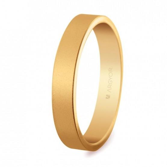 Alianza de boda oro plana efecto arena 4mm (5140150M)