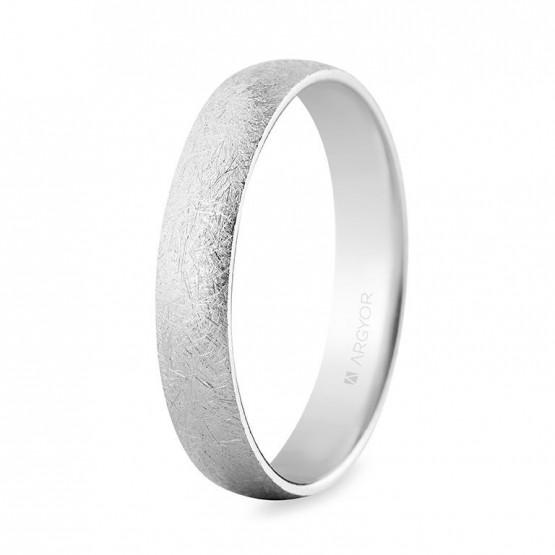 Alianza oro blanco 4mm efecto hielo confort (564B001H)