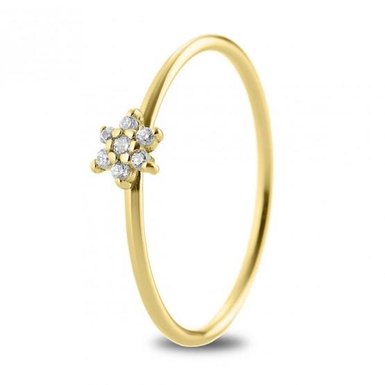 Anillo Flor diamantes en oro 18k (76AAN001)