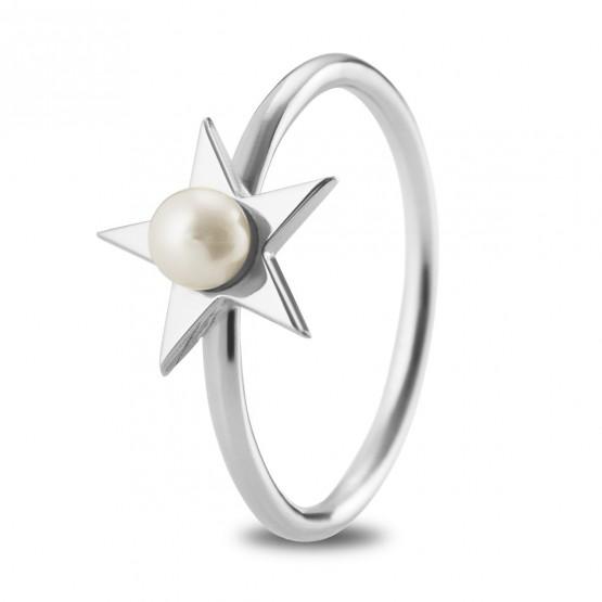 Anillo de plata de ley 925 Estrella con Perla (7B8307302)