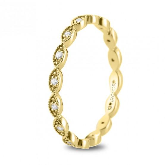 Anillo de oro amarillo ovalos y diamantes (74A0168)