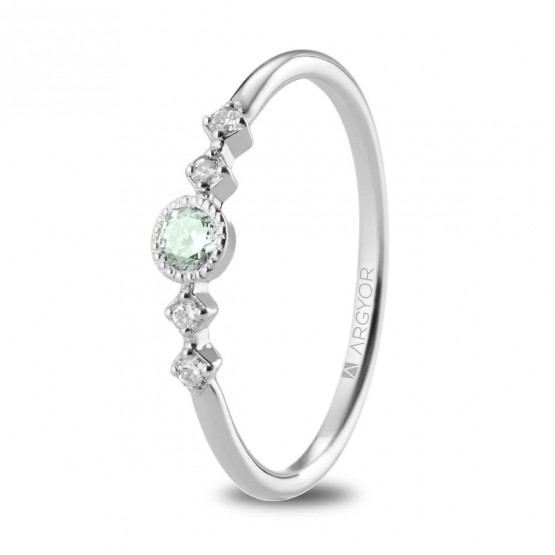 Anillo Zafiro verde 4 Diamantes (74B0084ZV)