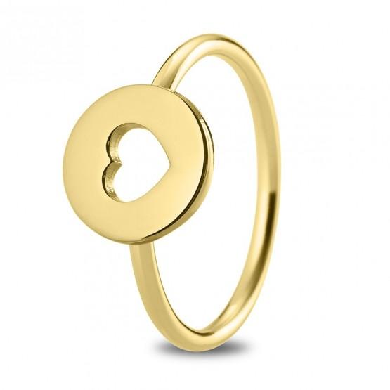 Anillo de plata ley 925 dorada Corazón (7A8307308)