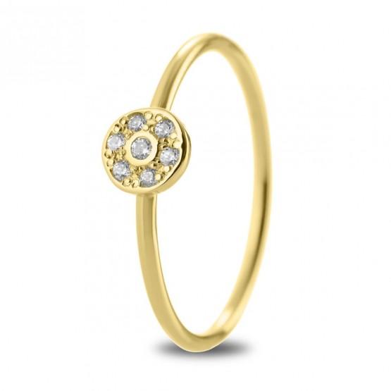 Anillo Roseta diamantes en oro 18k (76AAN003)