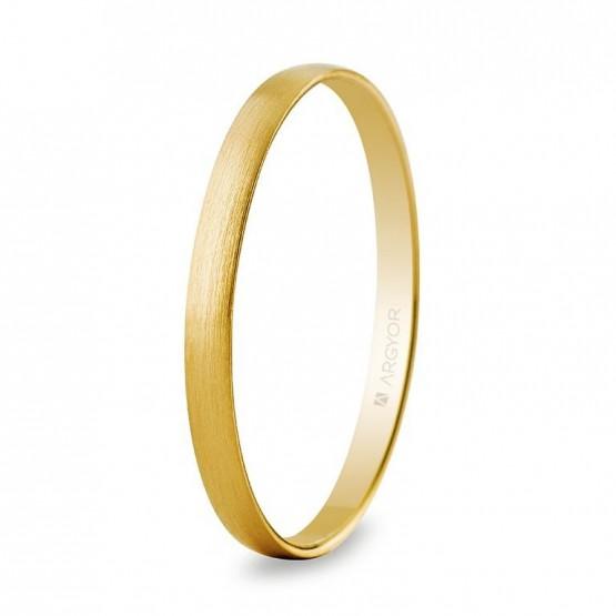 Alianza de oro media caña satinada 2mm (50201S)