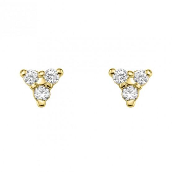 Pendientes Diamantes triángulo de oro (76APE002)