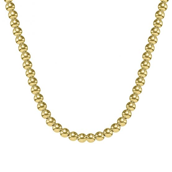 Collar de bolitas oro amarillo 18k 5mm (044A125COL)