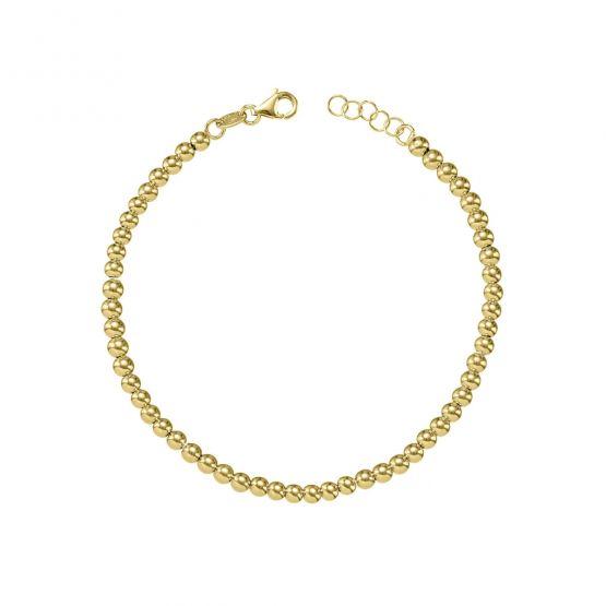 Collar de bolitas oro blanco 18k 5mm (044B125COL)