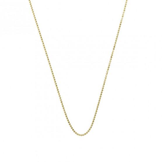 Collar de bolas pulido brillo en oro 1.20mm (0410109A)
