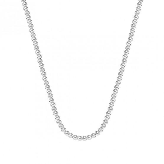 Collar oro blanco fantasía bolas brillo 4 mm (044B124COL)