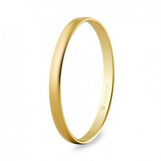 Alianza de boda oro de media caña 2mm arena (50201M)