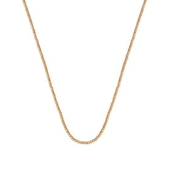 Collar oro rosa fantasia bolitas diamantadas (044R118COL)
