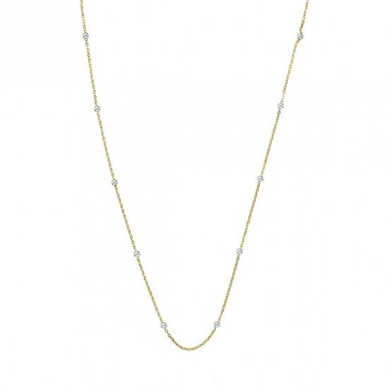 Collar oro bicolor fantasía bolitas 1.70mm (0410100BIC )