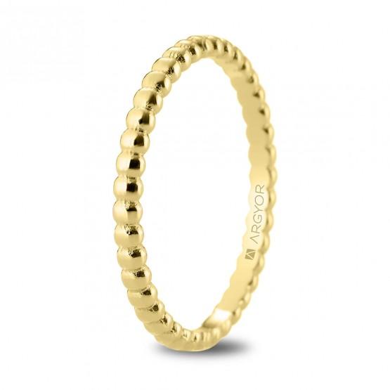 Alianza de boda en oro 18k en forma perlada 2mm (5120541)