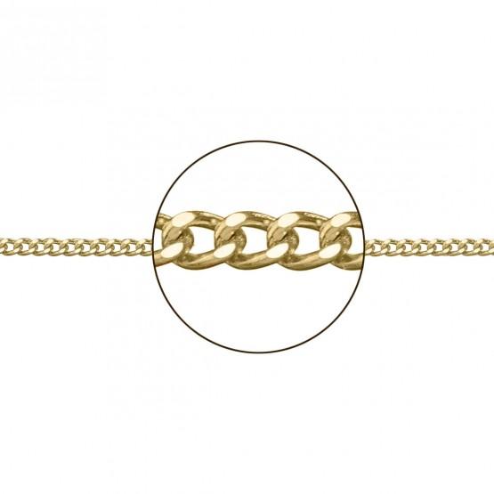 Cadena de oro amarillo 18k diseño barbada (066208034)